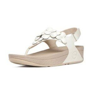 Fitflop urban white fleur floral leather sandals